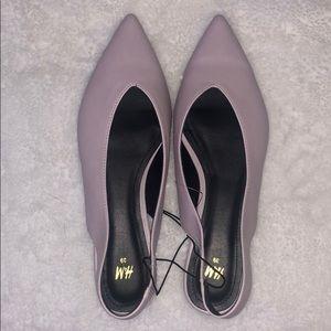 H&M slingback flats dusty pink rose NWOT